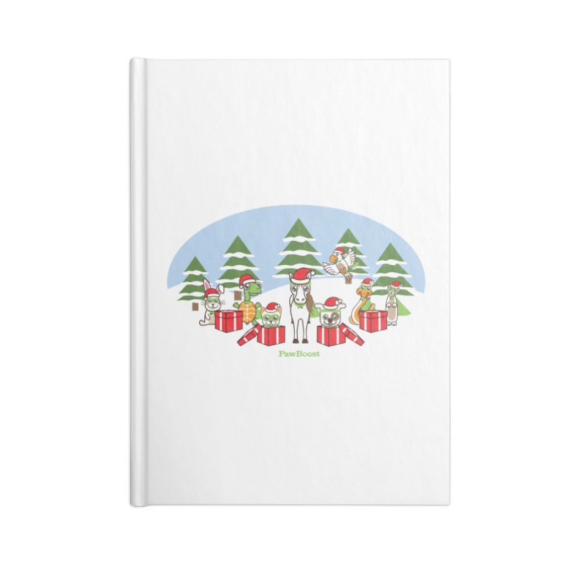Rescue Squad Presents (winter wonderland) Accessories Lined Journal Notebook by PawBoost's Shop