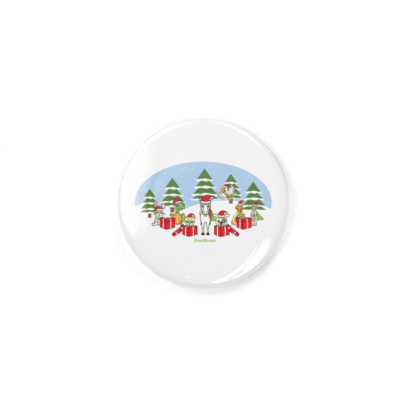 Rescue Squad Presents (winter wonderland) Accessories Button by PawBoost's Shop