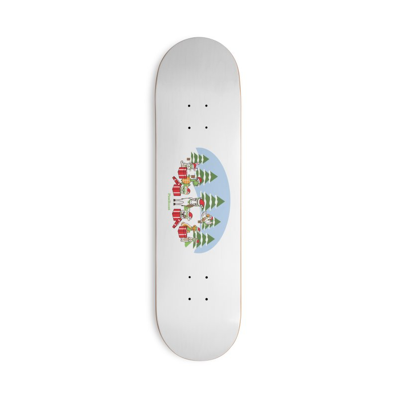 Rescue Squad Presents (winter wonderland) Accessories Deck Only Skateboard by PawBoost's Shop