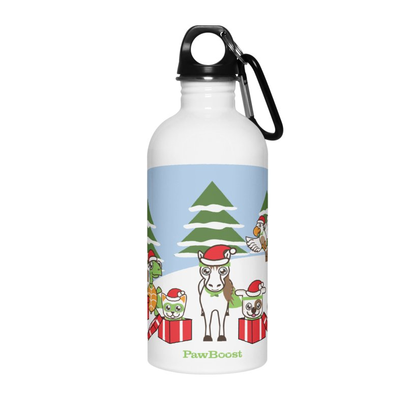 Rescue Squad Presents (winter wonderland) Accessories Water Bottle by PawBoost's Shop