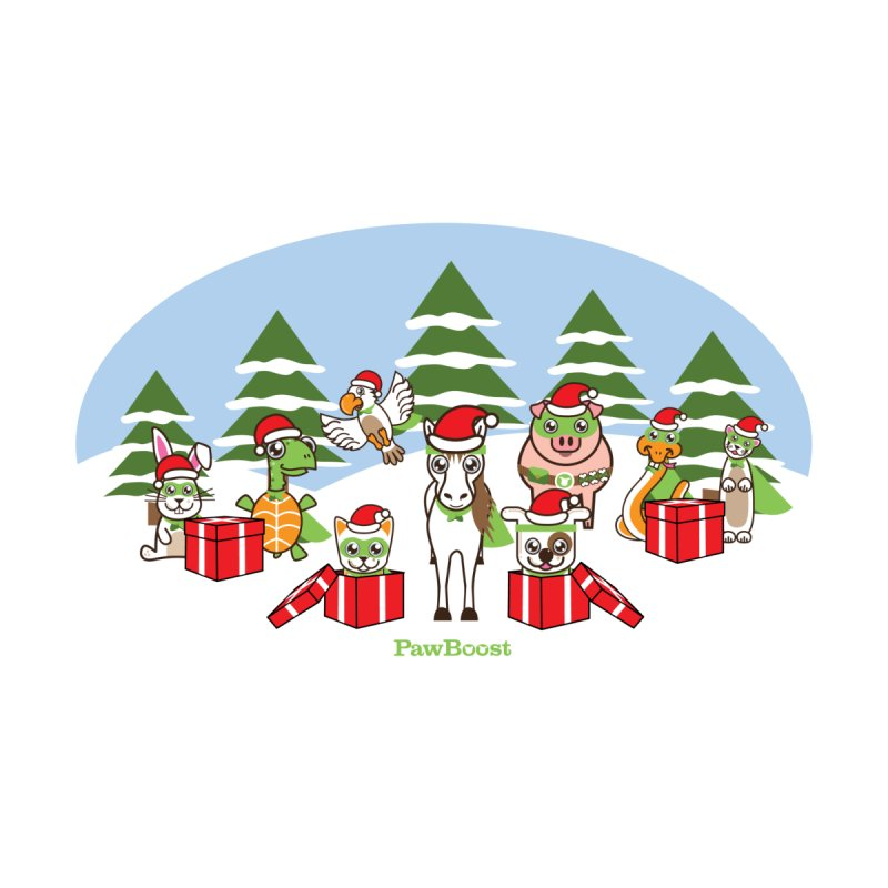 Rescue Squad Presents (winter wonderland) Accessories Greeting Card by PawBoost's Shop