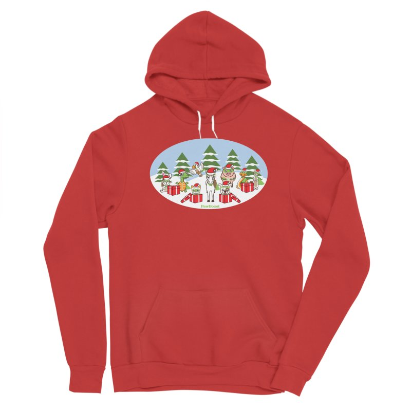 Rescue Squad Presents (winter wonderland) Men's Pullover Hoody by PawBoost's Shop