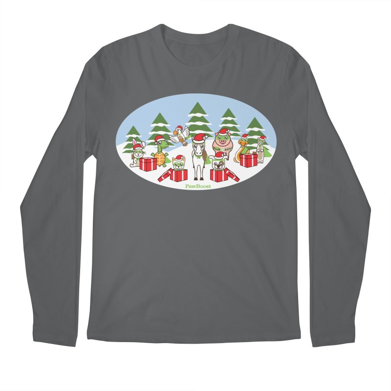 Rescue Squad Presents (winter wonderland) Men's Longsleeve T-Shirt by PawBoost's Shop
