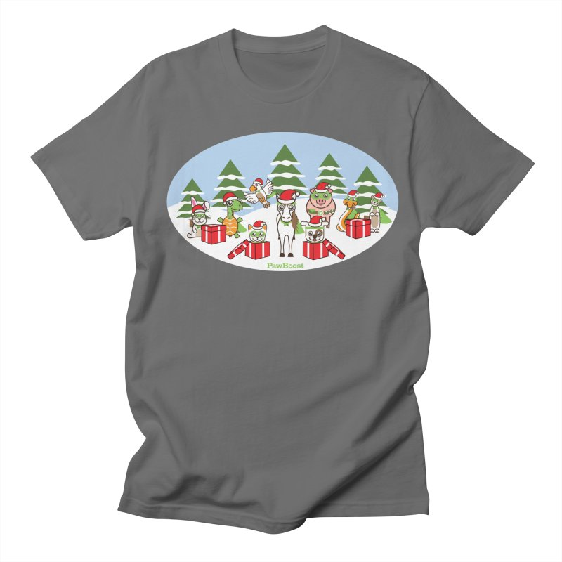 Rescue Squad Presents (winter wonderland) Men's T-Shirt by PawBoost's Shop
