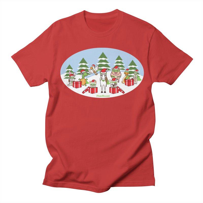 Rescue Squad Presents (winter wonderland) Men's T-Shirt by PawBoost's Shop