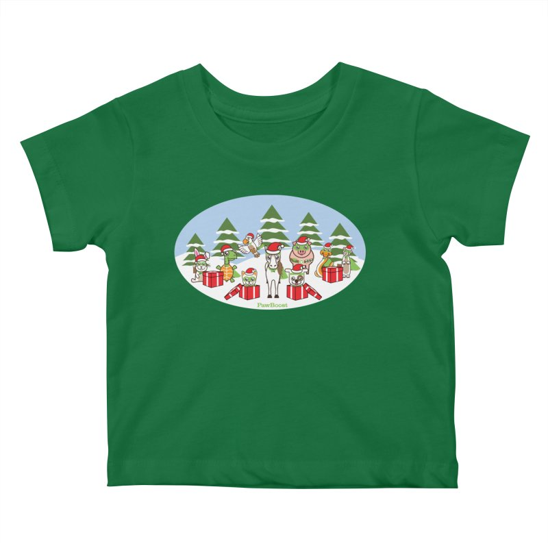 Rescue Squad Presents (winter wonderland) Kids Baby T-Shirt by PawBoost's Shop