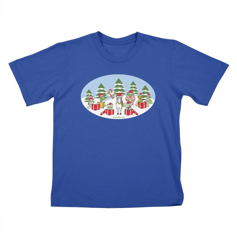 Rescue Squad Presents (winter wonderland) Kids T-Shirt by PawBoost's Shop