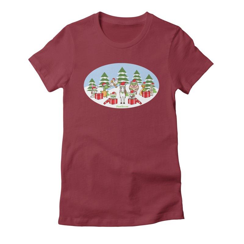 Rescue Squad Presents (winter wonderland) Women's T-Shirt by PawBoost's Shop