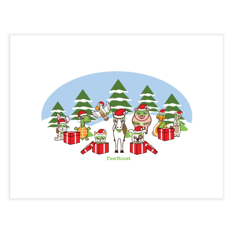 Rescue Squad Presents (winter wonderland) Home Fine Art Print by PawBoost's Shop