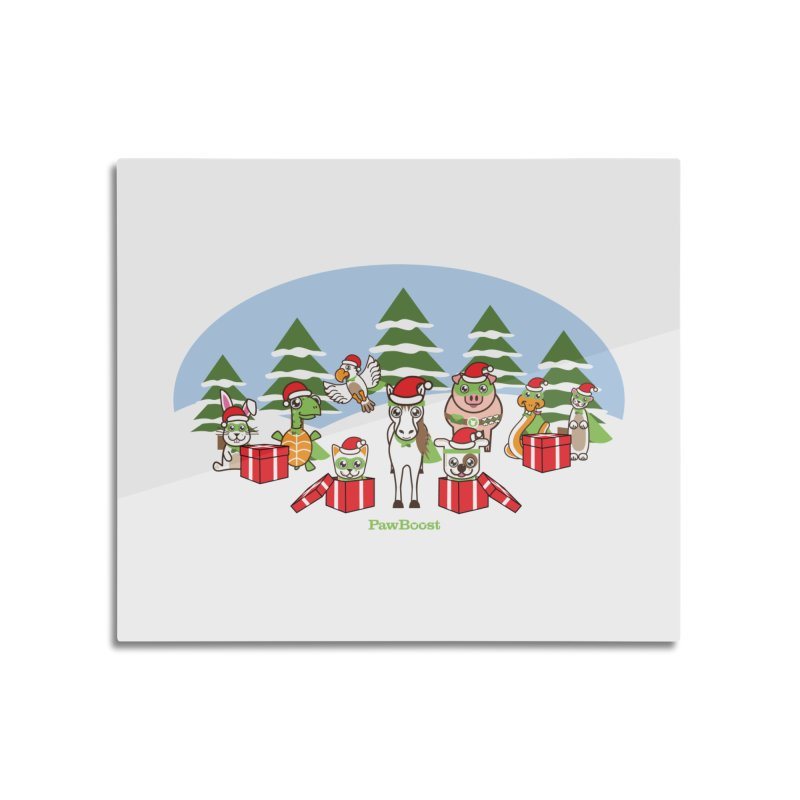 Rescue Squad Presents (winter wonderland) Home Mounted Acrylic Print by PawBoost's Shop