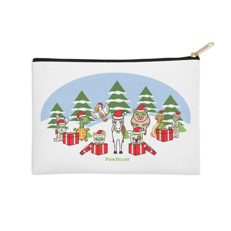 Rescue Squad Presents (winter wonderland) Accessories Zip Pouch by PawBoost's Shop