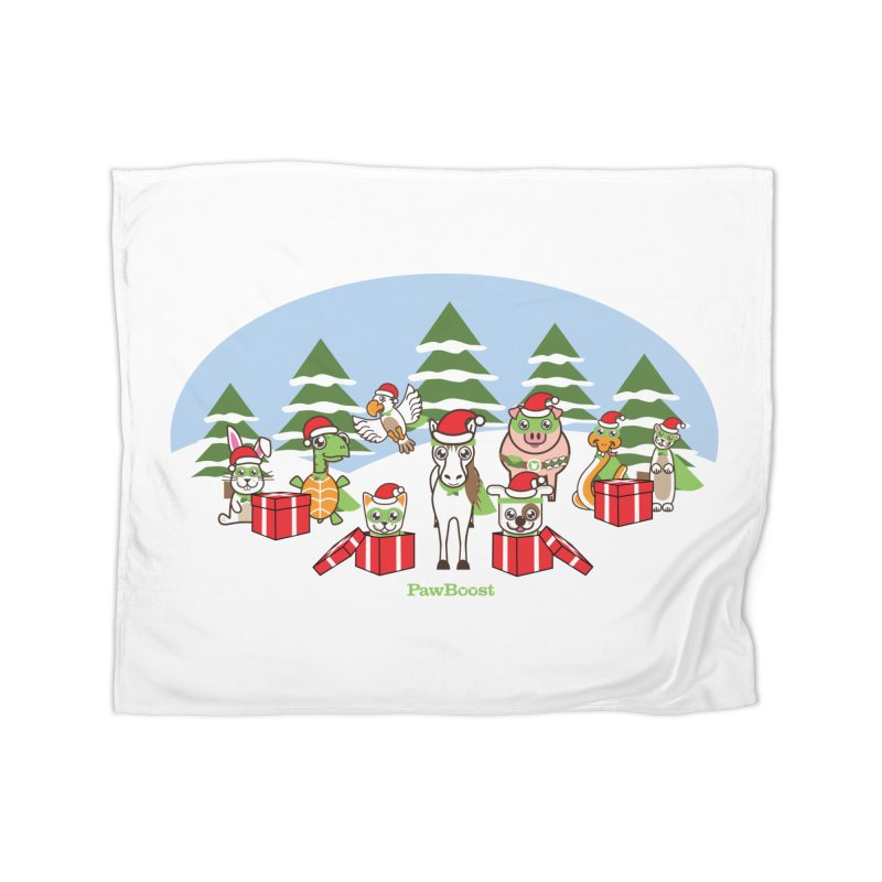 Rescue Squad Presents (winter wonderland) Home Blanket by PawBoost's Shop