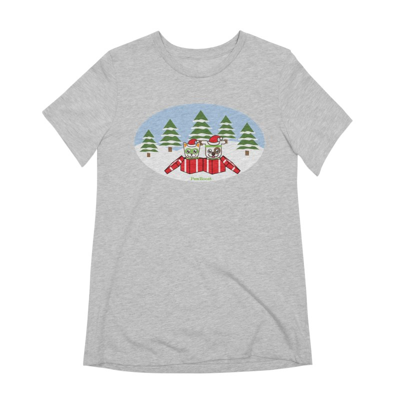 Toby & Moby Presents (winter wonderland) Women's Extra Soft T-Shirt by PawBoost's Shop