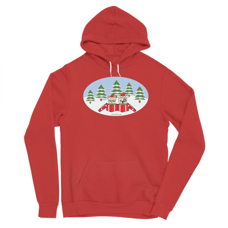 Toby & Moby Presents (winter wonderland) Men's Pullover Hoody by PawBoost's Shop