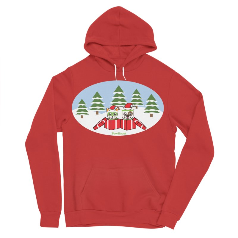 Toby & Moby Presents (winter wonderland) Women's Sponge Fleece Pullover Hoody by PawBoost's Shop