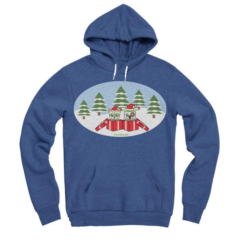 Toby & Moby Presents (winter wonderland) Women's Sponge Fleece Pullover Hoody by PawBoost's Shop