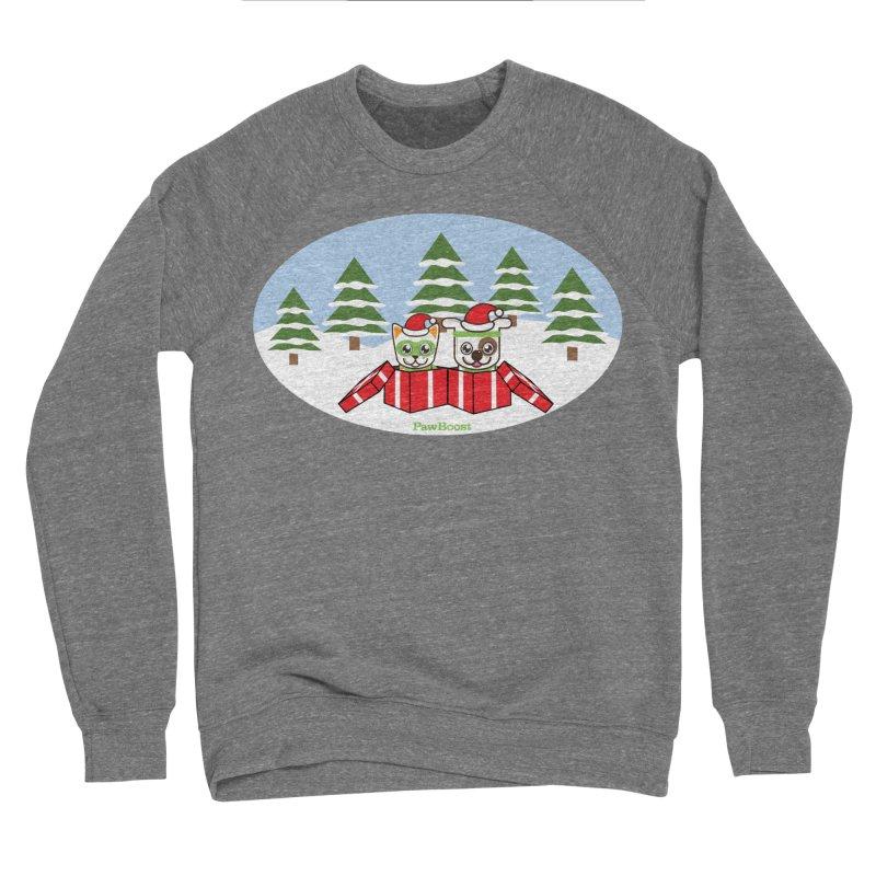 Toby & Moby Presents (winter wonderland) Women's Sponge Fleece Sweatshirt by PawBoost's Shop