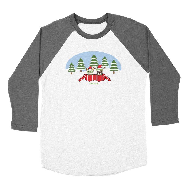 Toby & Moby Presents (winter wonderland) Women's Longsleeve T-Shirt by PawBoost's Shop