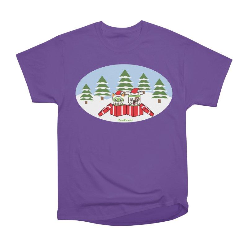 Toby & Moby Presents (winter wonderland) Women's Heavyweight Unisex T-Shirt by PawBoost's Shop