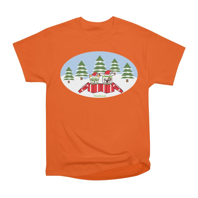 Toby & Moby Presents (winter wonderland) Women's T-Shirt by PawBoost's Shop