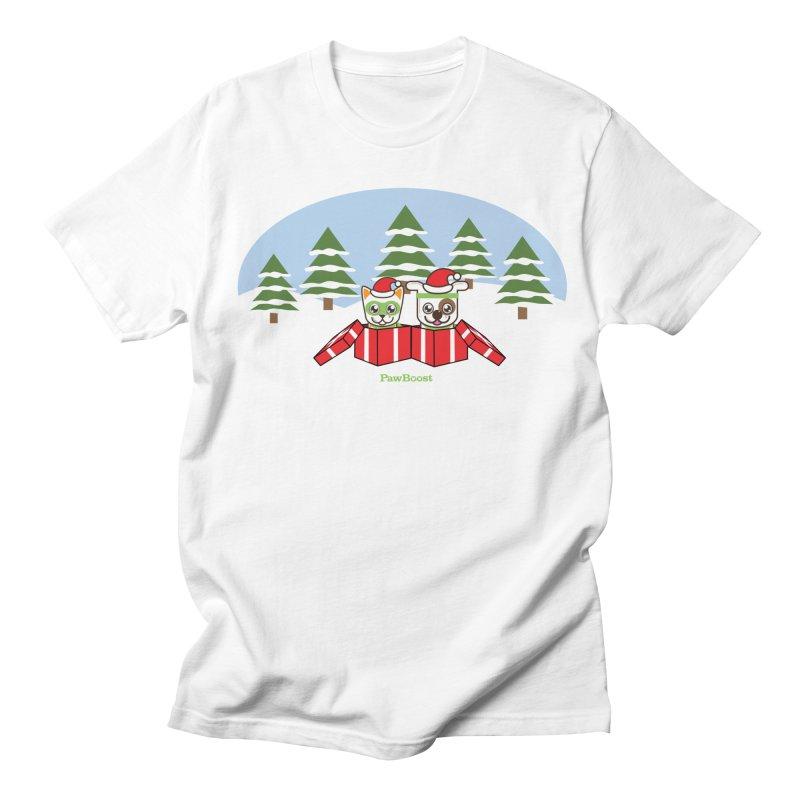 Toby & Moby Presents (winter wonderland) Women's Regular Unisex T-Shirt by PawBoost's Shop