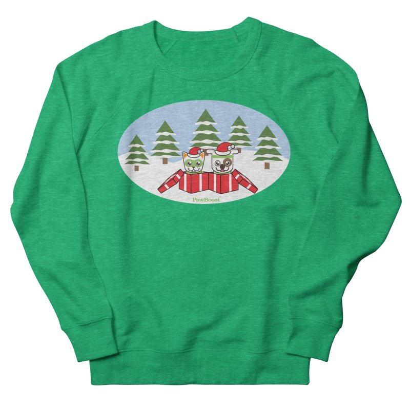 Toby & Moby Presents (winter wonderland) Women's Sweatshirt by PawBoost's Shop