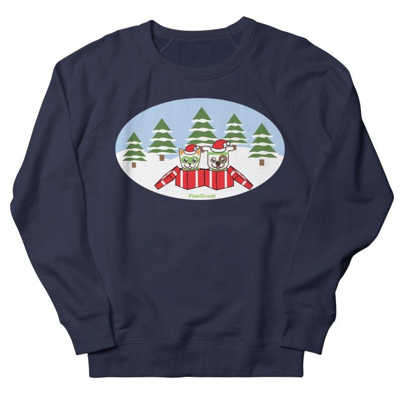 Toby & Moby Presents (winter wonderland) Women's Sweatshirt by PawBoost's Shop