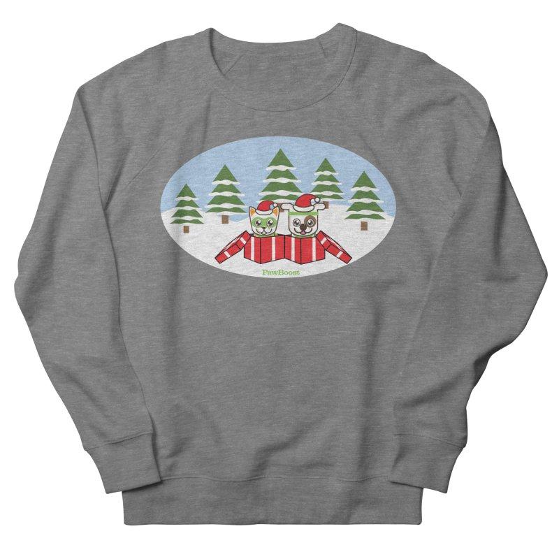 Toby & Moby Presents (winter wonderland) Men's Sweatshirt by PawBoost's Shop