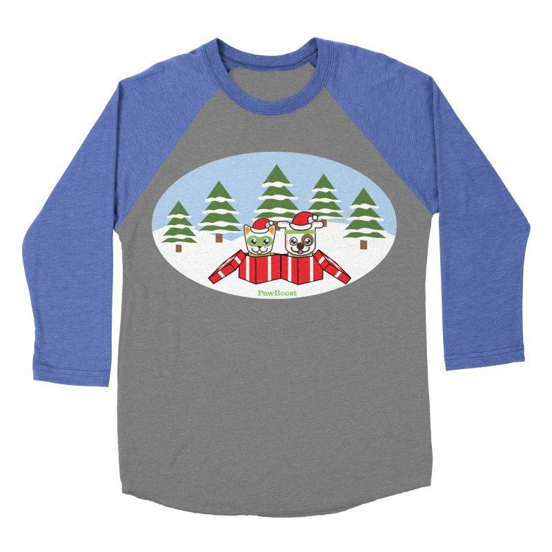 Toby & Moby Presents (winter wonderland) Women's Baseball Triblend Longsleeve T-Shirt by PawBoost's Shop