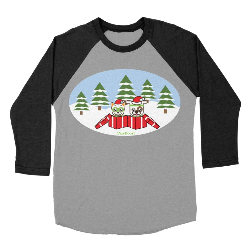 Toby & Moby Presents (winter wonderland) Men's Baseball Triblend Longsleeve T-Shirt by PawBoost's Shop