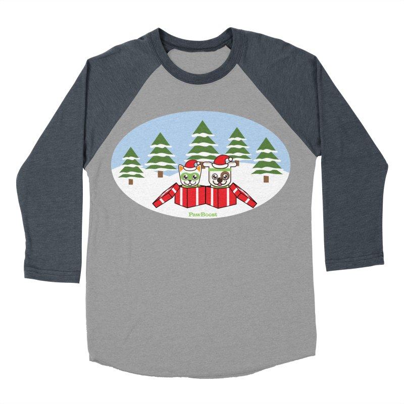 Toby & Moby Presents (winter wonderland) Men's Baseball Triblend Longsleeve T-Shirt by PawBoost's Shop