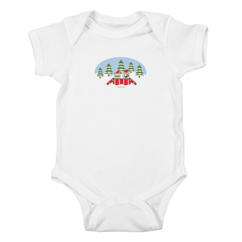 Toby & Moby Presents (winter wonderland) Kids Baby Bodysuit by PawBoost's Shop