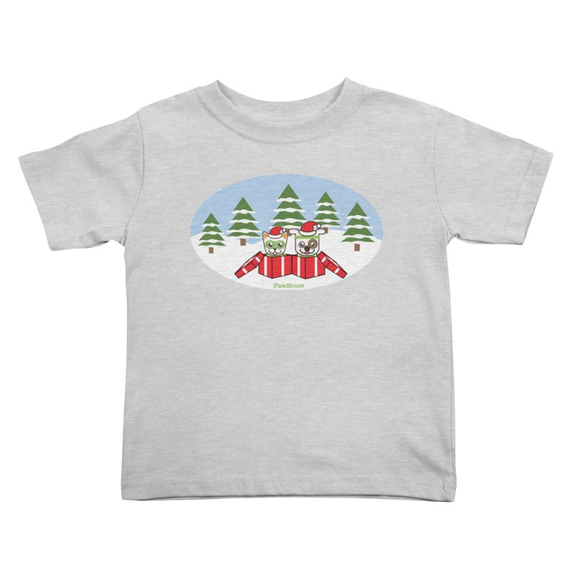 Toby & Moby Presents (winter wonderland) Kids Toddler T-Shirt by PawBoost's Shop
