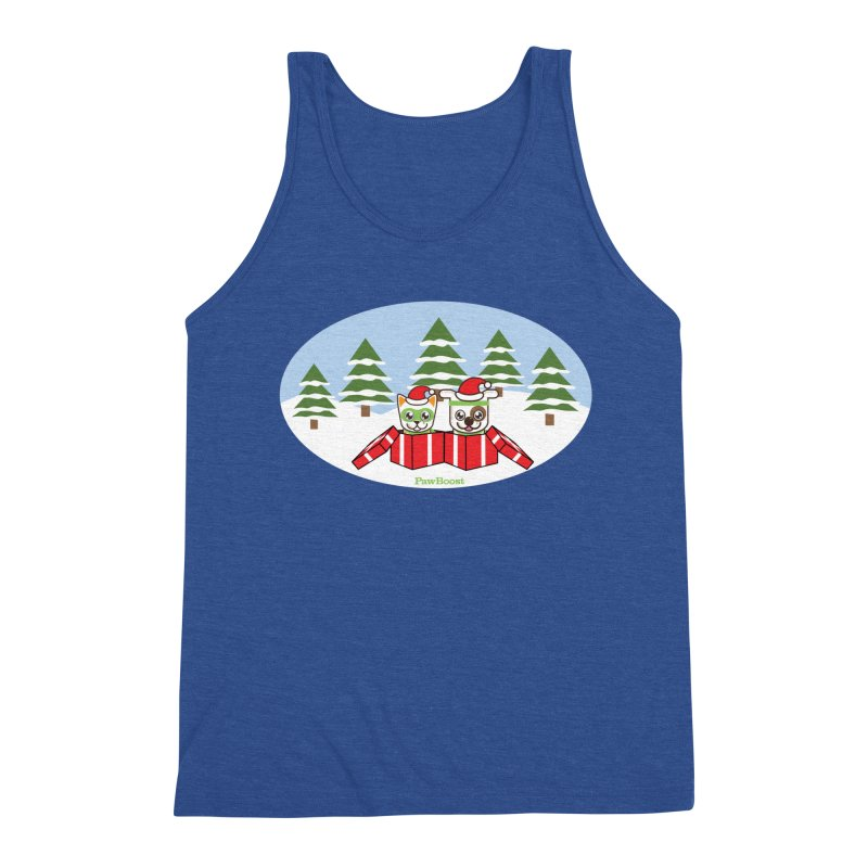 Toby & Moby Presents (winter wonderland) Men's Triblend Tank by PawBoost's Shop