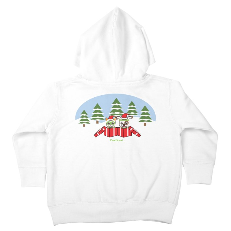 Toby & Moby Presents (winter wonderland) Kids Toddler Zip-Up Hoody by PawBoost's Shop