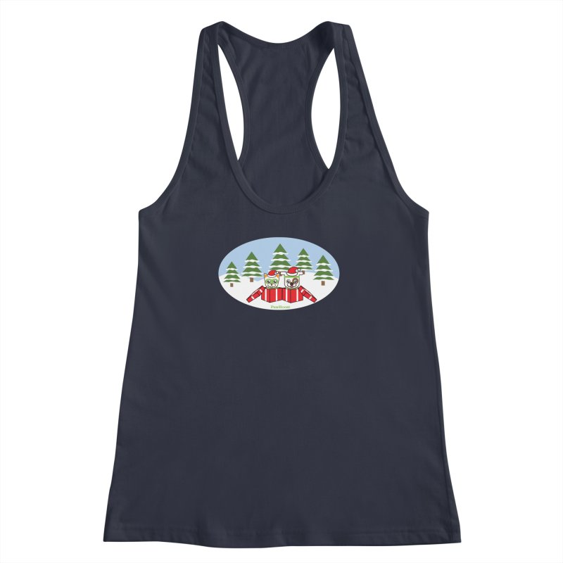 Toby & Moby Presents (winter wonderland) Women's Racerback Tank by PawBoost's Shop