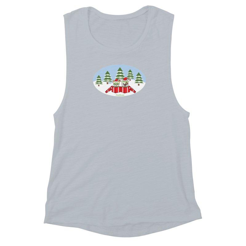 Toby & Moby Presents (winter wonderland) Women's Muscle Tank by PawBoost's Shop