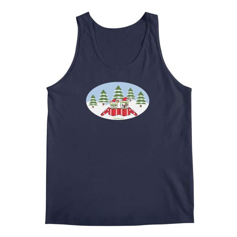 Toby & Moby Presents (winter wonderland) Men's Regular Tank by PawBoost's Shop