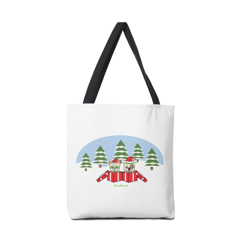 Toby & Moby Presents (winter wonderland) Accessories Tote Bag Bag by PawBoost's Shop
