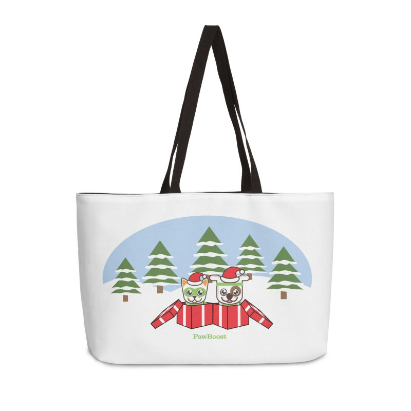 Toby & Moby Presents (winter wonderland) Accessories Weekender Bag Bag by PawBoost's Shop