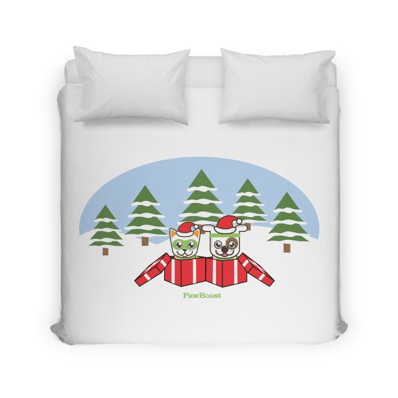 Toby & Moby Presents (winter wonderland) Home Duvet by PawBoost's Shop