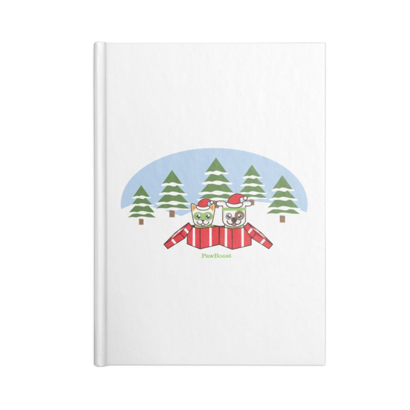 Toby & Moby Presents (winter wonderland) Accessories Notebook by PawBoost's Shop