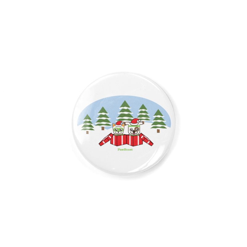 Toby & Moby Presents (winter wonderland) Accessories Button by PawBoost's Shop