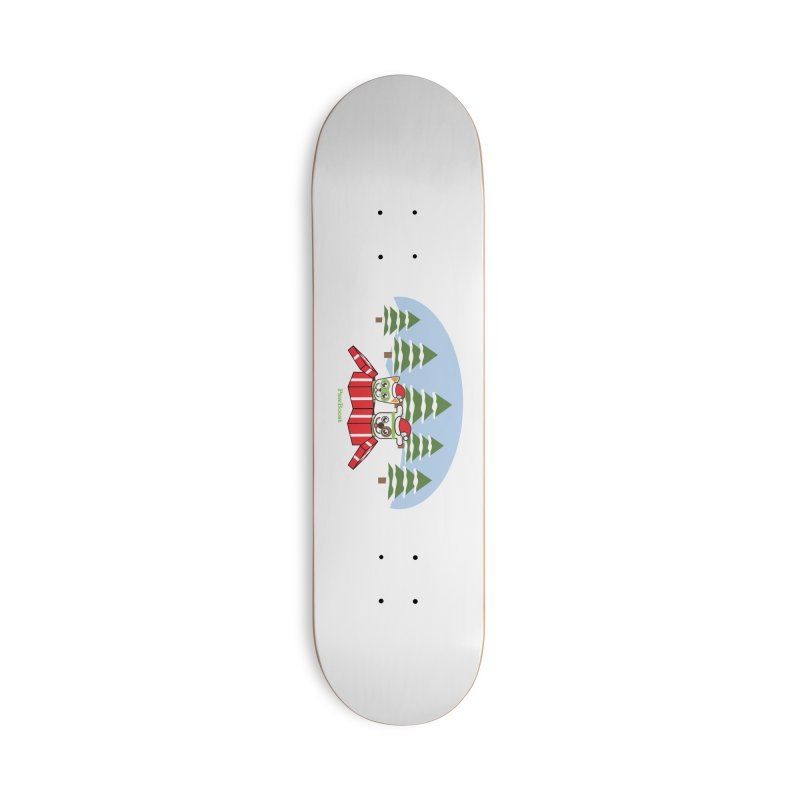 Toby & Moby Presents (winter wonderland) Accessories Deck Only Skateboard by PawBoost's Shop
