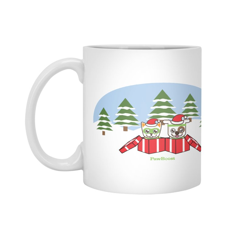 Toby & Moby Presents (winter wonderland) Accessories Mug by PawBoost's Shop