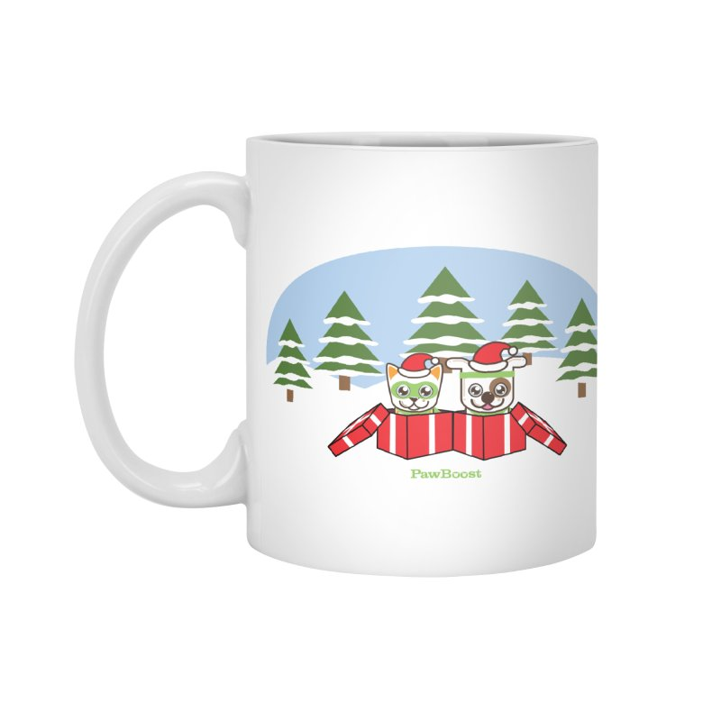 Toby & Moby Presents (winter wonderland) Accessories Standard Mug by PawBoost's Shop