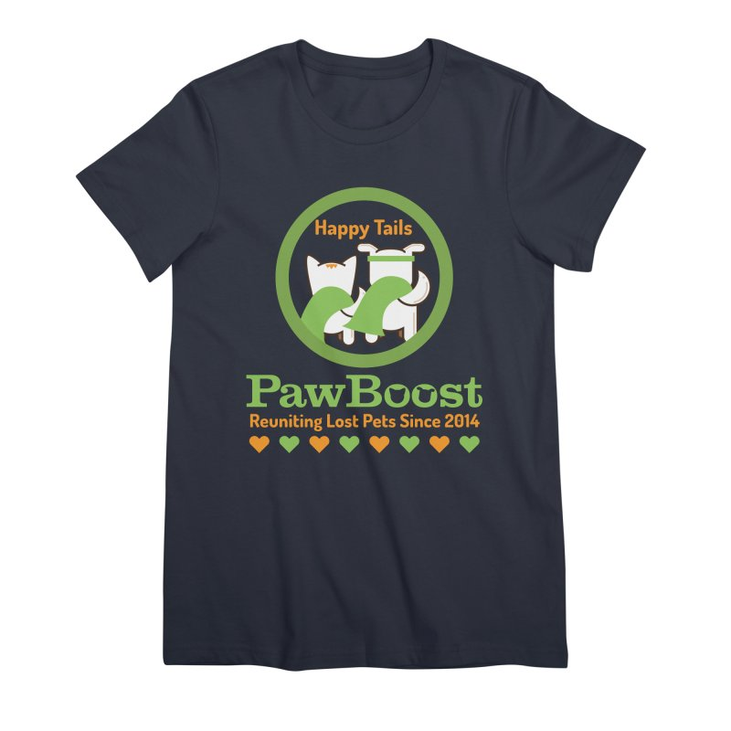 Happy Tails Women's Premium T-Shirt by PawBoost's Shop