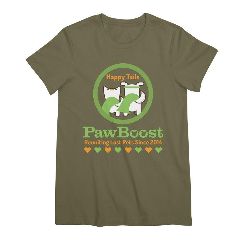 Happy Tails Women's Premium T-Shirt by PawBoost's Shop