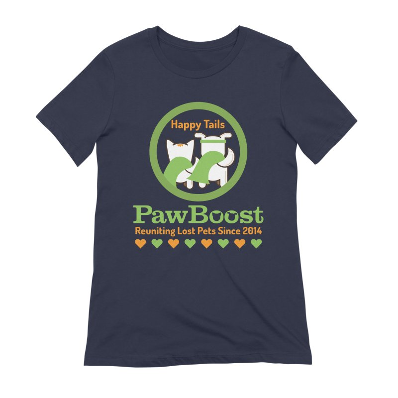 Happy Tails Women's Extra Soft T-Shirt by PawBoost's Shop