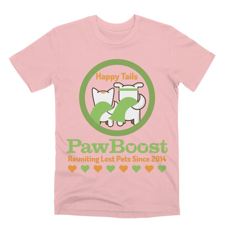 Happy Tails Men's Premium T-Shirt by PawBoost's Shop